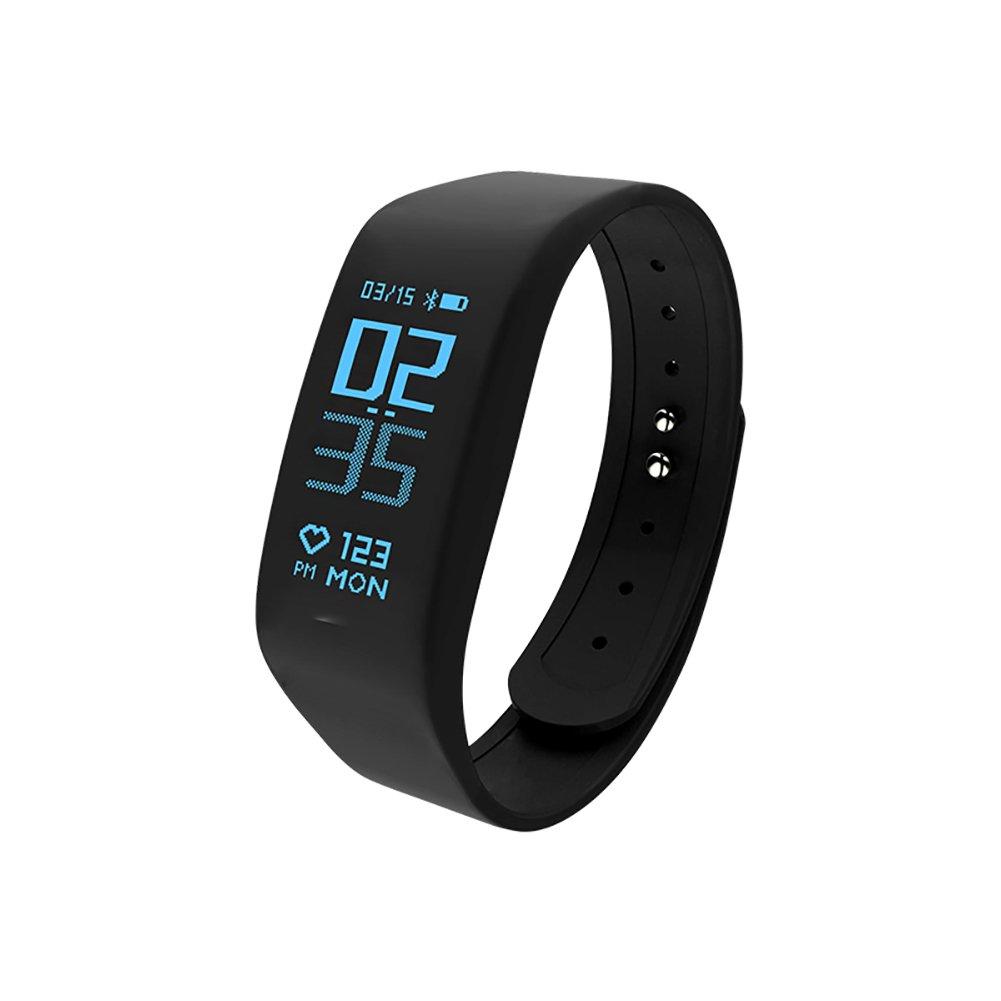 DW&HX Fitness Tracker,Smart orologio da Polso Dinamico Continuo Anello di Mano di frequenza cardiaca Movimento Contatore di Punto Impermeabile-A