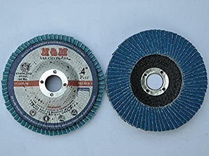 "10pcs Zirconium FLAP DISCS 5/"" x 7//8/"" 40 grit Sanding Grinding Wheel Type 27"