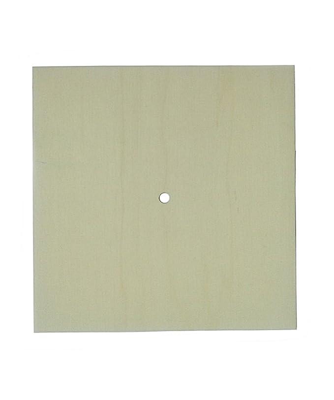 decoup Base per  orologio in legno di pioppo a forma quadrata per il fai da te