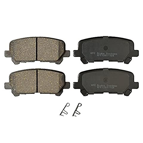 KFE Ultra Quiet Advanced KFE1281-104 Premium Ceramic REAR Brake Pad Set - Auto Brake Tune