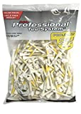 Pride Professional Tee System ProLength Tee, 2-3/4 Inch - 175 Count (Yellow on White)