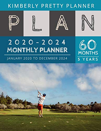 5 year monthly planner 2020-2024: 2020-2024 Monthly