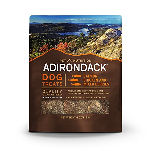 Adirondack Pet Food 22573 All Life Stages Salmon Chicken & Mixed Berries Treats, 4 Oz (Adirondack Dog)