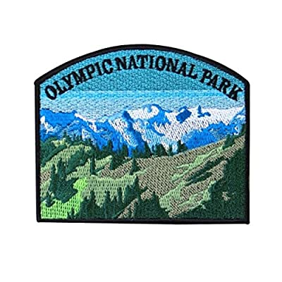 "Washington ""Olympic National Park"" Souvenir Patch Hiking Travel Iron-On Applique"