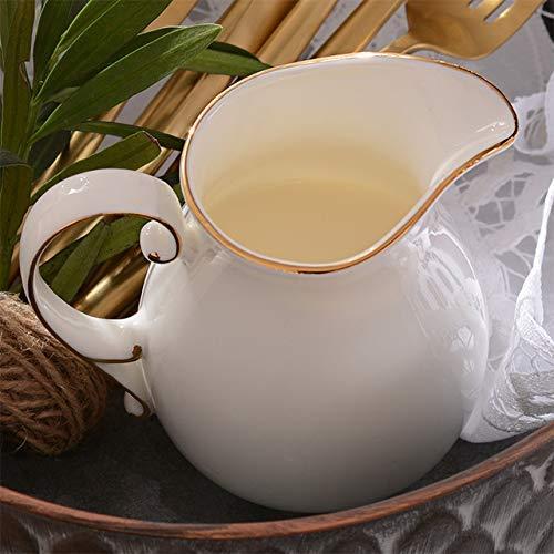 Taza de te arabe Tazas de ceramica Tazas de cafe de Porcelana Fina de Hueso Espresso Juegos de vajilla de Porcelana Blanca Retro Europea Jarra de Leche