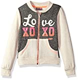xoxo clothing - XOXO Toddler Girls' Fleece Bomber Jacket, Oatmeal Heather, 3T