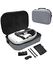 ProCase Hard Travel Case for Oculus Quest 2 VR Gaming Headset, Controllers Accessories Shockproof EVA Hard Shell Carrying Case Storage Bag with Shoulder Strap, Also Fits Elite Strap –Grey