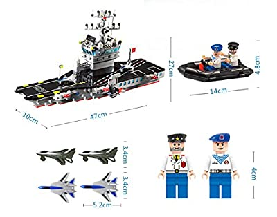 Enlighten Building Block Boat Military Navy Aircraft Carrier Battle Ship 508pcs (Without Original Packing Box)