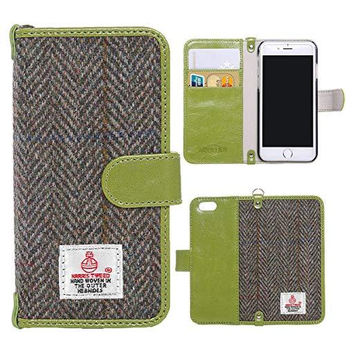 (Harris Tweed iPhone 7 Plus, iPhone 8 Plus Wallet Case Cover MONOJOY Handmade Retro Flip Folio Book Protective Credit Card Holder Slots Magnetic Closure for iPhone 7 Plus 8 Plus 5.5