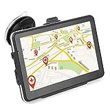 Keenso - Sistema de navegación GPS con visualización táctil HD de 7 pulgadas universal para coche, camión, 256 MB, 8 GB, MP3, MP4, FM, Bluetooth, Mapa, mapas de por vida, tráfico en vivo, estacionamiento en vivo, voz automática