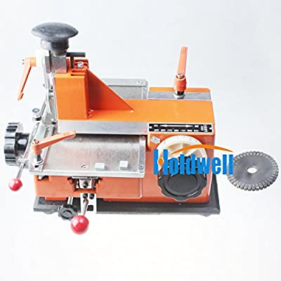 Holdwell Semi-Automatic Sheet Embosser Metal Stamping Printer Marking Machine (3mm Label)