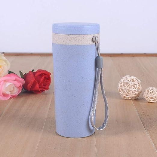 QiuHui Vaso de Paja de Trigo Reutilizable Biodegradable de ...
