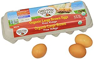 Organic Valley Organic Free-Range Large Brown Eggs, Dozen, 12 ct