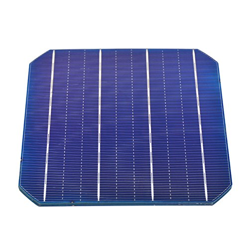 AOSHIKE 10Pcs 4.7W 0.5V Monocrystalline Silicon Flexible Solar Panel Solar Cell Sun power Cells for DIY Cell Phone Charger 156x156/6.14x6.14 (10pcs)