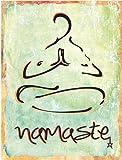 Namaste Metal Sign, Health and Well-being, Yoga, Sanskrit, Hindi, Greeting