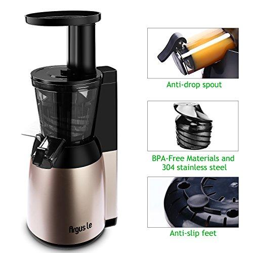 Argus Le Slow Masticating Juicer : Argue Le Slow Juicer, Compact Design Masticating Juicer, High Nutrient Cold Press Juicer, Easy ...