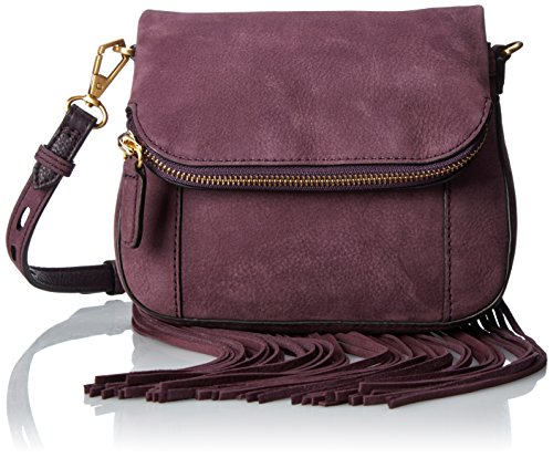 Rebecca Minkoff Mini Crosby Saddle with Fringe Cross Body...