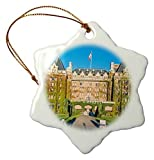 Louis Christmas Craft Tree Decorations Canada British Columbia Victoria Empress Hotel Snowflake Christmas Ornament Porcelain Present - 3 inch