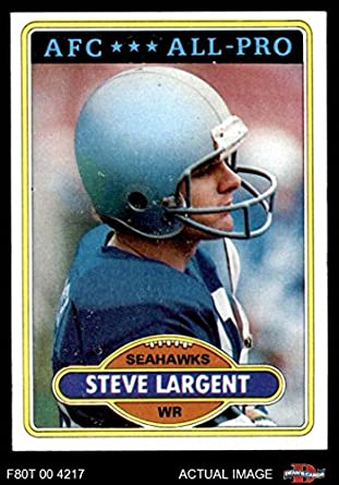 reputable site 22ccc f8988 Amazon.com: 1980 Topps # 450 Steve Largent Seattle Seahawks ...