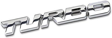 1 Stücke 3d Metall Turbo Karosserie Seitenfender Kofferraum Emblem Abzeichen Aufkleber Auto