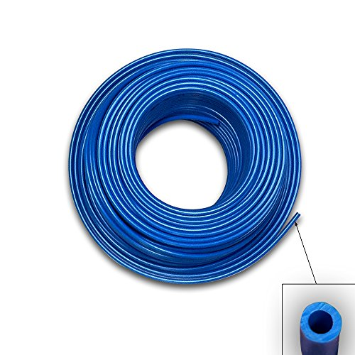Food Grade 1/4 Inch Plastic Tubing for RO Water Filter System, Aquariums, Refrigerators, ECT (50 Feet, Blue) by Ronaqua