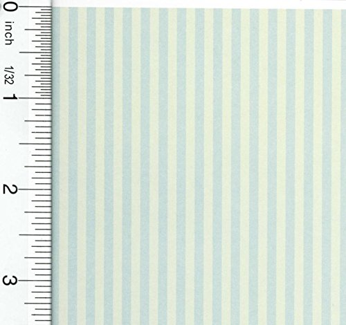 Match Stripes Wallpaper (Dollhouse Wallpaper Misty Stripe)
