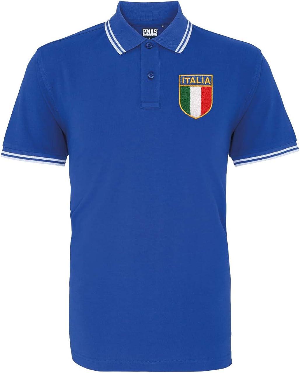 Retro para hombre Italia Rugby – Polo para hombre, Multicolore ...