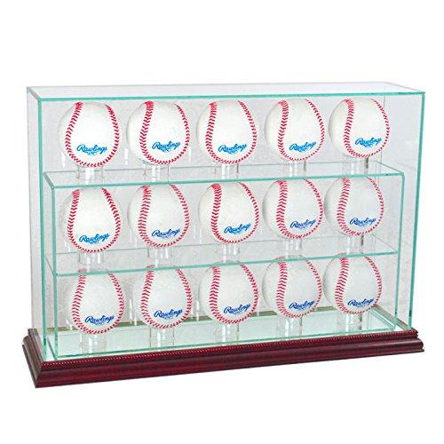 MLB 15野球Uprightガラスディスプレイケース  チェリー B00IKAJSE6