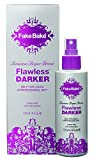 Fake Bake Flawless Darker Self-Tanning Liquid | Fast-Drying, Dark Sunless Tan | Black Coconut Scent | Streak-Free, Easy Application with Professional Mitt Included | 6 oz