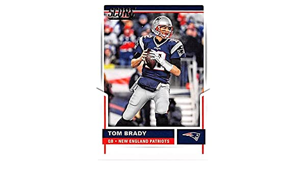 Tom Brady football card (New England Patriots Super Bowl Champion) 2017  Score  200 at Amazon s Sports Collectibles Store ce14f3fe3