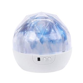 Uonlytech - Lámpara de proyección con forma de estrellas, LED ...
