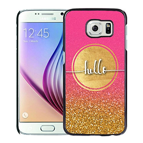 Luxurious And Nice Custom Designed Kate Spade Cover Case For Samsung Galaxy S6 Black Phone Case 199