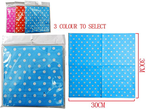 NAPKINS 20PC POLKA DOT 3ASST, Case of 144 by DollarItemDirect