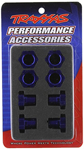 Traxxas 5353X Blue-Anodized Aluminum 17mm Wheel Hubs/Nuts (set of four)