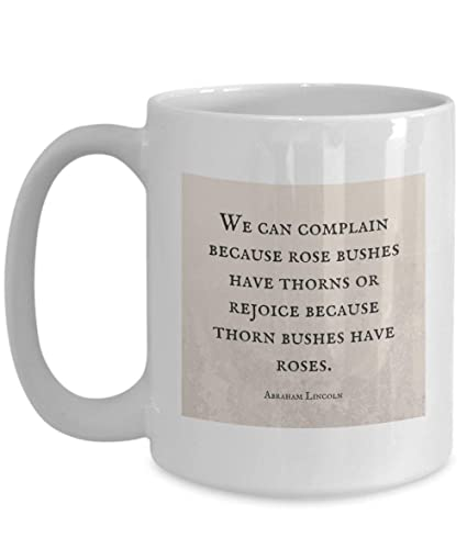Amazoncom Abraham Lincoln Quote Mug We Can Complain Because Rose