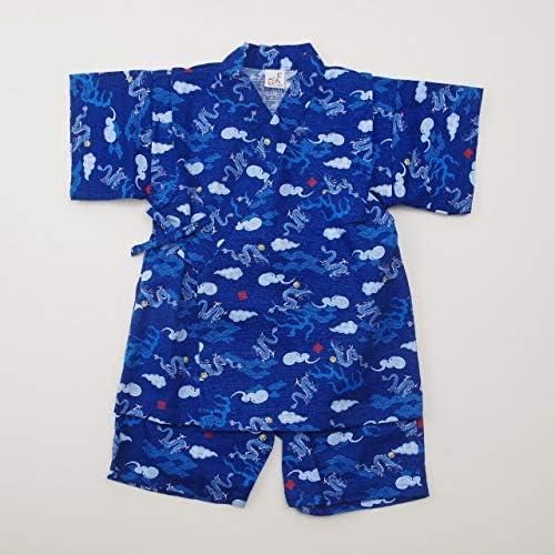 日本製 甚平スーツ 祭り 男の子 龍 (920979)