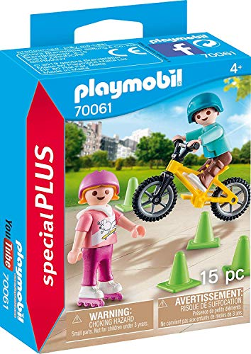 - PM Playmobil Children with Skates and Bike