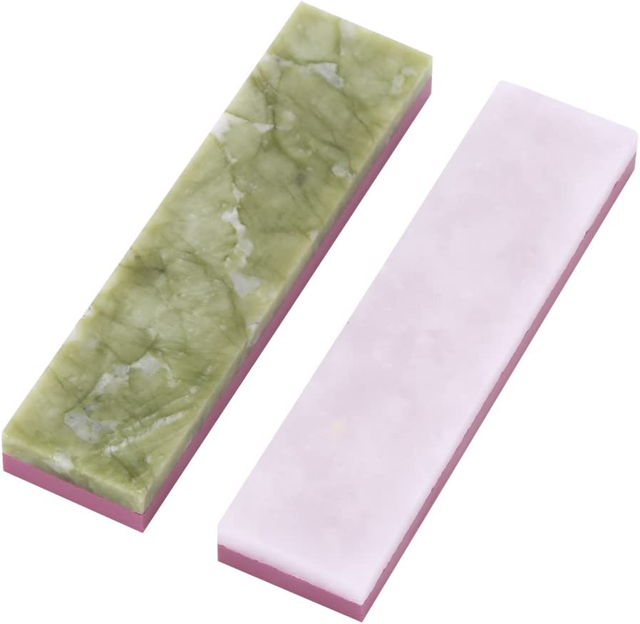 light green 2-IN-1 Sharpening Whetstone 3000//10000 Grit Combination Polishing Waterstone Blade Sharpener Grindstone for Kitchen Outdoor Cutting Tools