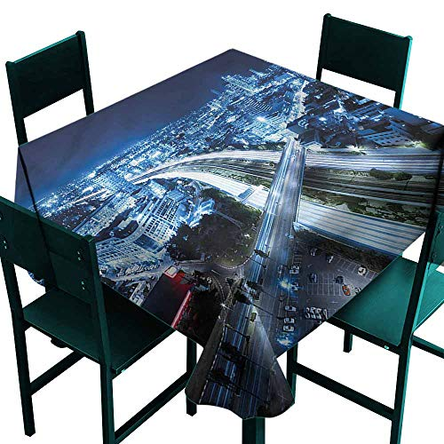 DONEECKL Restaurant Tablecloth Travel Tel Aviv Modern Easy to Clean W36 xL36 (Best Time To Travel To Tel Aviv)