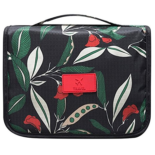 Hanging Toiletry Bag - Portable Travel Makeup Comestic Organizer - Durable Hanging Hook - for Women & Men, Perfect for Comestic , Personal items, Shampoo, Body wash(leaf)
