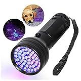 UV Flashlight Black Light, 51 LED 395nM Ultraviolet Handheld Flashlights Blacklight Detector for Pet Urine, Pet Stains, Bad Bug, Scorpion Hunting Aluminum Torch Light(Battery not Included)