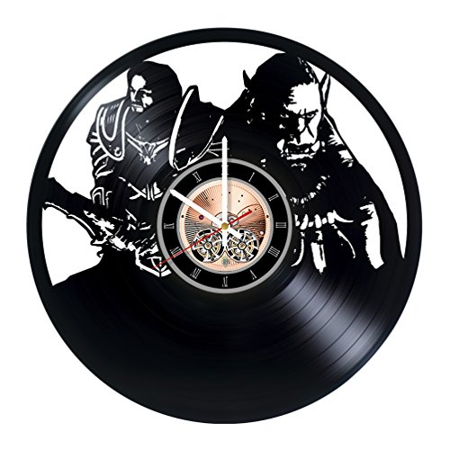 World of Warcraft Vinyl Record Wall Clock - Home room or Kitchen room wall decor - Gift ideas for men, brother, boys – Unique Art Design