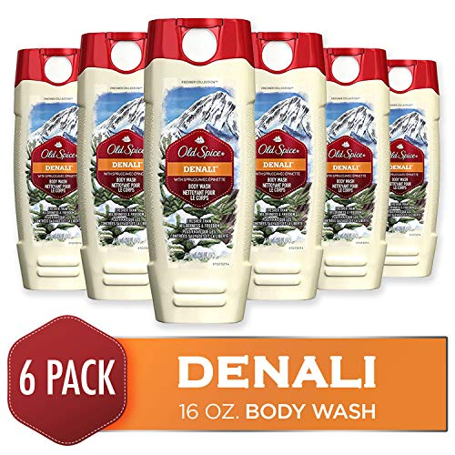 Body Wash for Men by Old Spice, Fresher Collection Men's Body Wash, Denali, 16 Fluid Ounce (Pack of 6) - Old Spice Scented Body Wash