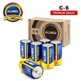 ALLMAX All-Powerful Alkaline Batteries - C 6 Pack (Premium Grade) - Ultra Long Lasting and Leak-Proof, Powered by EnergyCircle Technology