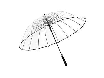 paraguas Paraguas transparente 16 hueso personalidad creativa para hombres y mujeres paraguas paraguas aumento engrosamiento mango