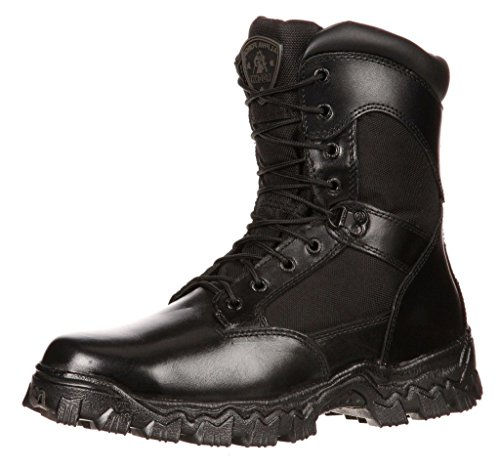 Rocky 2173 Men's Alpha Force 8-inch Side-Zip Boot, Black 15 M
