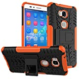 Huawei Honor 5X / GR5 Case,Mama Mouth Shockproof Heavy Duty Combo Hybrid Rugged Dual Layer Grip Cover with Kickstand For Huawei Honor 5X / GR5 Smartphone(With 4 in 1 Free Gift Packaged),Orange