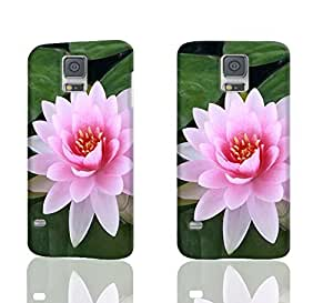 Pinkish Lotus Flower 3D Rough Case Skin, fashion design image custom, durable hard 3D case cover, Case New Design for Samsung Galaxy S5 I9600 , By Codystore
