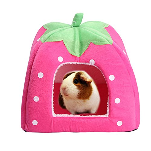 FLAdorepet Rabbit Guinea Pig Hamster House Bed Cute Small Animal Pet Winter Warm Squirrel Hedgehog Chinchilla House Cage Nest Hamster Accessories (9