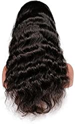 Full Lace Wigs Hand Made Human Hair Remy 100% Brazilian Virgin #1b Body Wave